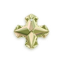 Swarovski Greek Cross Pendant 6867 18mm Crystal Luminous Green (1-Pc)