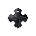 Swarovski Greek Cross Pendant 6867 18mm Jet (1-Pc)