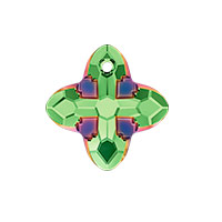 Swarovski 6868 Cross Tribe Pendant 14mm Peridot Scarabaeus Green (1-Pc)