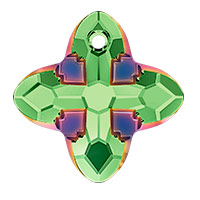 Swarovski 6868 Cross Tribe Pendant 24mm Peridot Scarabaeus Green (1-Pc)