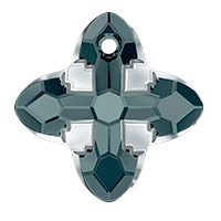 Swarovski 6868 Cross Tribe Pendant 24mm Graphite Light Chrome (1-Pc)