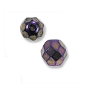 Czech Fire Polished Rounds 4mm Purple Iris (10-Pcs)