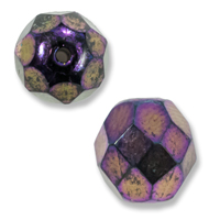 Czech Fire Polished Rounds 8mm Purple Iris (10-Pcs)