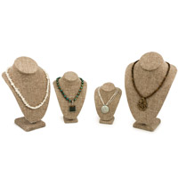 Burlap Necklace Bust Kit #17