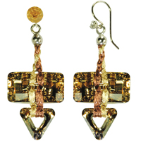 Sand Converge Earring Kit with Swarovski Crystals and WireLace