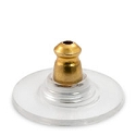Ear Back and Plastic Comfort Disc with Gold Plated Surgical Stainless Steel Base (10-Pcs)
