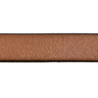 10mm Tan Flat Leather Strap (Priced Per Inch)