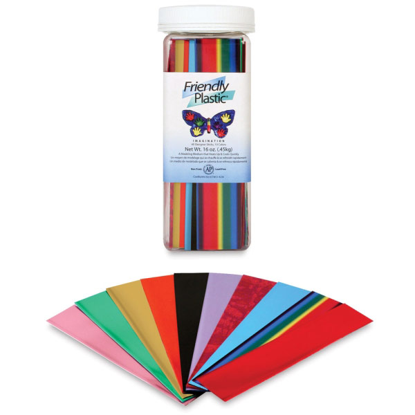 Friendly Plastic Imagination Assortment (40-Pcs)