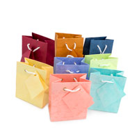 Assorted Pastel 3x3 Tote Gift Bags (10-Pcs)