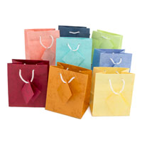 Assorted Pastel 4x4 Tote Gift Bags (10-Pcs)