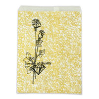 Jewelry Gift Bags Gold Print 8x11 (100-Pcs)