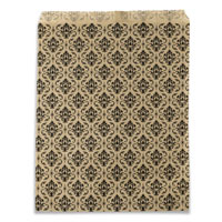Gift Bag Damask Print 8x11 (100-Pcs)