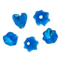 Recycled Glass Flower Beads 6mm Dark Blue (5-Pcs)