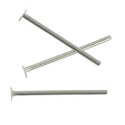 Silver Plated ½ Inch Head Pin 21 Gauge (10-Pcs)