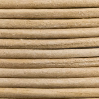 Leather Cord Natural 2mm (25 Yard Pack)
