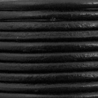 Leather Cord Black 2mm (Priced per Yard)