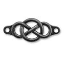 Link - Infinity 35x15mm Pewter Gunmetal Plated (1-Pc)