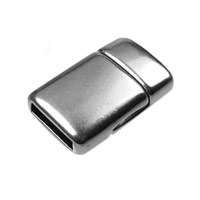 10mm Antique Silver Plated Flat Magnetic Clasp (1-Pc)