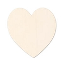 Brass Large Heart 24 Gauge Blank 1 3/8