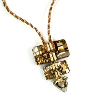 Sand Converge Necklace Kit with Swarovski Crystals and WireLace