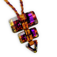 Volcano Converge Necklace Kit with Swarovski Crystals and WireLace