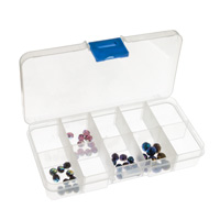 10-Compartment Clear Plastic Small Jewelry Organizer