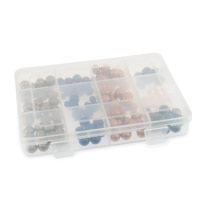 12-Compartment Clear Plastic Rectangular Jewelry Organizer
