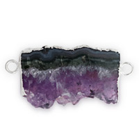 Amethyst Geode Slice Connector 30-35mm (1-Pc)