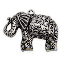 48mm Pewter Elephant Pendant (1-Pc)