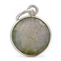 Round Pendant Faceted Labradorite Sterling Silver 11mm (1-Pc)