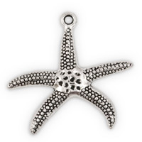 28x30mm Pewter Starfish Pendant (1-Pc)