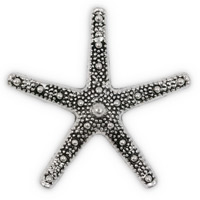 58mm Pewter Star Fish Pendant (1-Pc)
