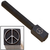 Elite Design 10mm Stamp Peace Sign