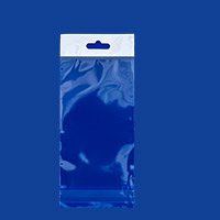 Resealable Polypropylene Bags with Hanging Header 3x5