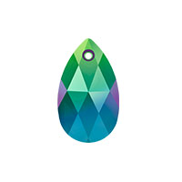 Swarovski 6106 16mm Crystal Scarabaeus Green Pear Shape Pendant (1-Pc)