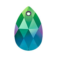 Swarovski 6106 22mm Crystal Scarabaeus Green Pear Shape Pendant (1-Pc)