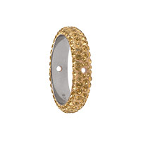 Swarovski 85001 BeCharmed Pavé Thread Ring 14.5mm Crystal Golden Shadow (1-Pc)