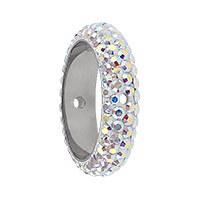 Swarovski 85001 BeCharmed Pavé Two Hole Ring 16x4.5mm Crystal AB (1-Pc)