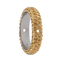 Swarovski 85001 BeCharmed Pavé Thread Ring 16mm Crystal Golden Shadow (1-Pc)
