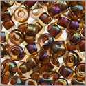 Miyuki Round Rocaille Seed Bead 8/0 Inside Color Amber (3 Gram Tube)