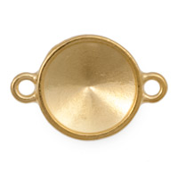 14mm 2 Loop Gold Plated Pewter Rivoli Setting (1-Pc)