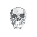 Swarovski 5750 Crystal Light Chrome 13mm Skull Bead (1-Pc)