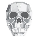 Swarovski 5750 Crystal Light Chrome 19mm Skull Bead (1-Pc)