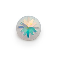 Swarovski 1695 Sea Urchin Round Stone Partly Frosted 14mm Crystal AB (1-Pc)
