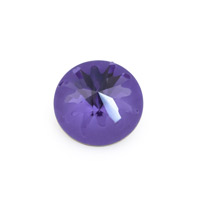 Swarovski 1695 Sea Urchin Round Stone Partly Frosted 14mm Tanzanite (1-Pc)
