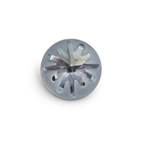 Swarovski 1695 Sea Urchin Round Stone Partly Frosted 14mm Crystal Blue Shade (1-Pc)