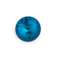 Swarovski 1695 Sea Urchin Round Stone Partly Frosted 14mm Crystal Bermuda Blue (1-Pc)