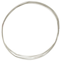 Sterling Silver Wire Half Round Dead Soft 18ga (1-Ft)