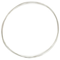 Sterling Silver Wire Half Round Half Hard 20ga (1-Ft)