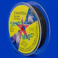 .5mm Black Stretch Magic Bead Cord (25 Meters)